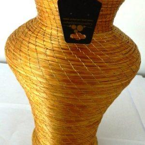 Vaso em Capim Dourado Costurado