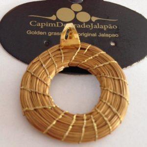 Pingente de Capim Dourado com Argolinha