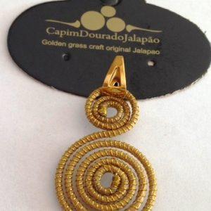 Pingente de Capim Dourado Modelo Caracol