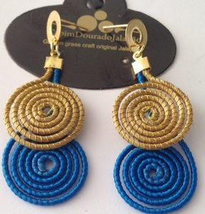 Brinco Espiral Blue